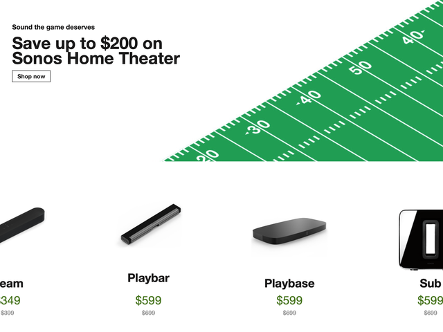 This Could Be Your Last Chance to Save On Sonos Home Theater Gear For Awhile