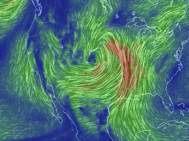 El centro de los Estados Unidos está a punto de ser golpeado con un ciclón bomba