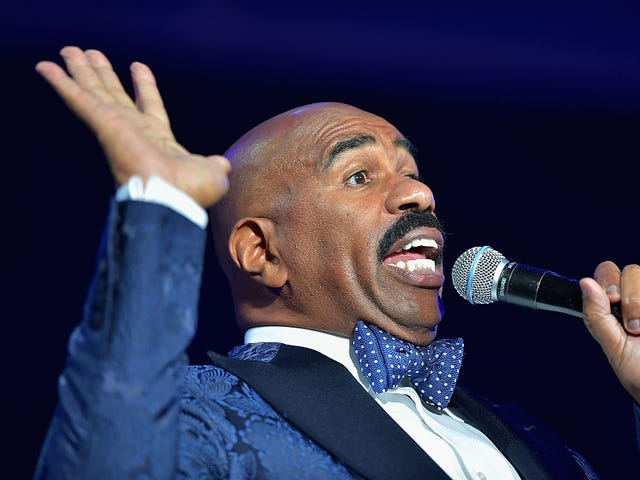 Steve Harvey Just Can't Stop Caping for the President