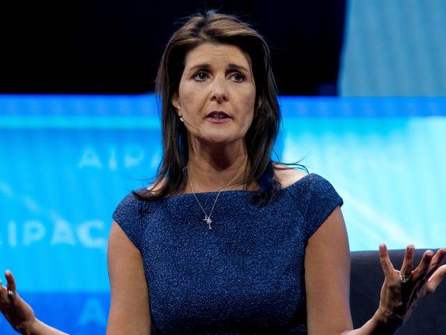 Rapport: Nikki Haley a utilisé un système de messagerie non classé pendant la crise ICBM nord-coréenne parce qu'elle a oublié son mot de passe