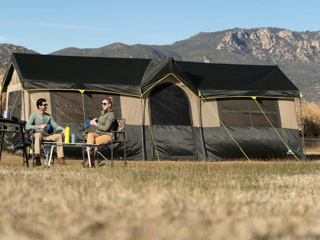 Save $100 On a Tent With a Built-In Movie Screen, And Two Closets