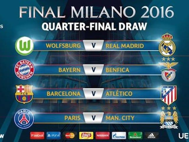 İşte Şampiyonlar Ligi Çeyrek Final Finali