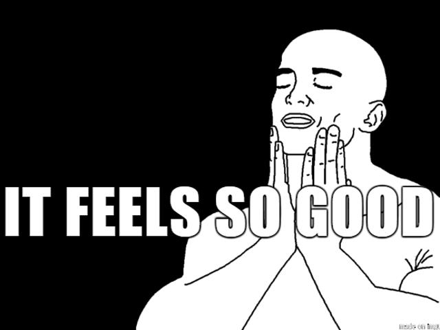 Ahhh...feels so good.