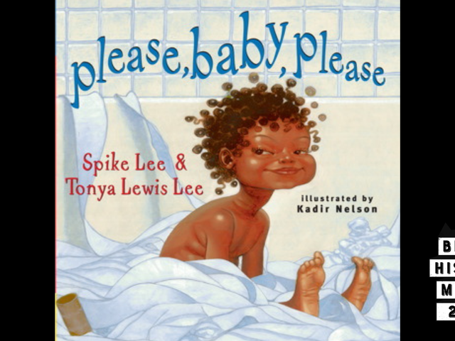 28 Days of Literary Blackness with VSB   Day 10: Please, Baby, Please by Spike Lee and Tonya Lewis Lee, Illustrated by Kadir Nelson