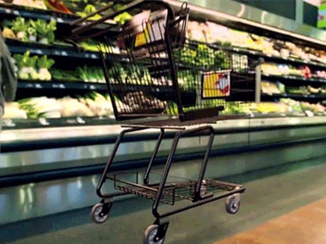 O que está escondido dentro de carrinhos de compras para fazê-los custar US $ 100 cada?