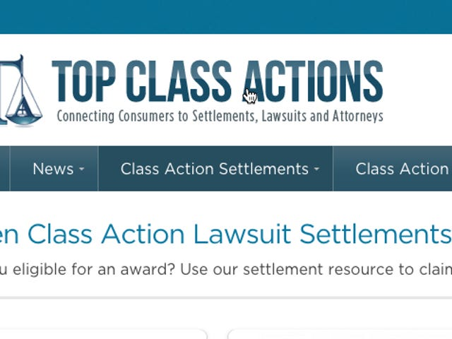 Top Class Actions Tells You When Companies Owe You Money