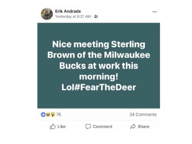 Cop Who Joked About Arresting Sterling Brown On Facebook Has Been Fired