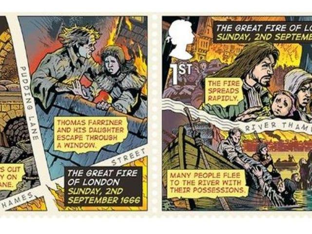 L'artiste Watchmen fait lécher le grand incendie de Londres