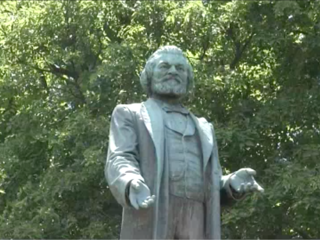 Statue of Fredrick Douglass, Umar Johnson's 8th Cousin On His Father's Side, Destroyed