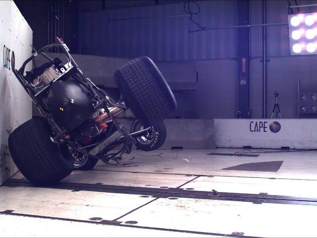 sprint car crash test!