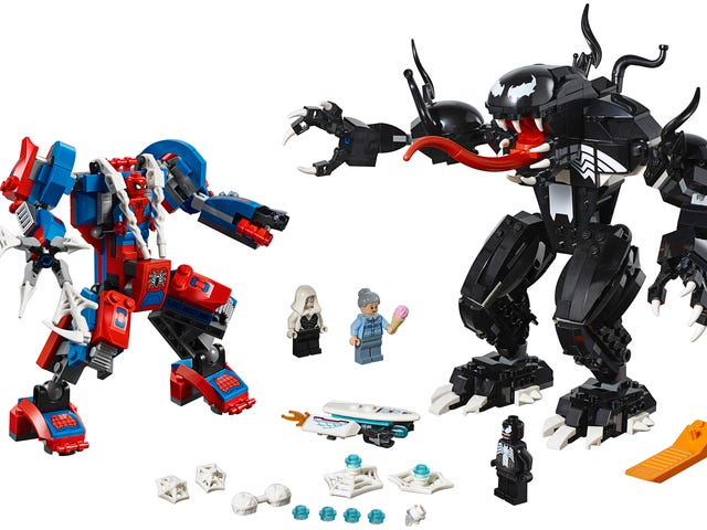 A New Lego Set Reveals Spider-Man and Venom Don't Need to Be Jealous of Tony Stark's Hulkbuster Mech