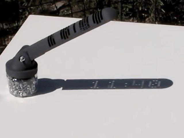 Este fascinante reloj de sol muestra la hora og digital, sin trucos ni electrónica