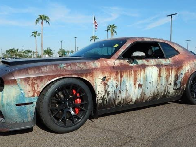 This Rust-Wrapped Dodge Challenger SRT Hellcat Is Making Me Have a True Existential Debate