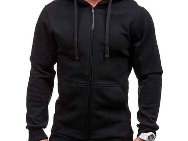 Sweat à capuche et poches d'hiver avec cordon de serrage (manches longues)