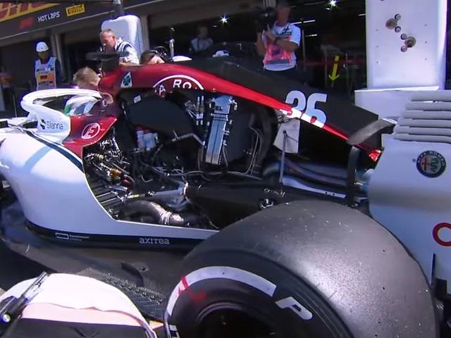 Sauber C37 F1 exposed engine