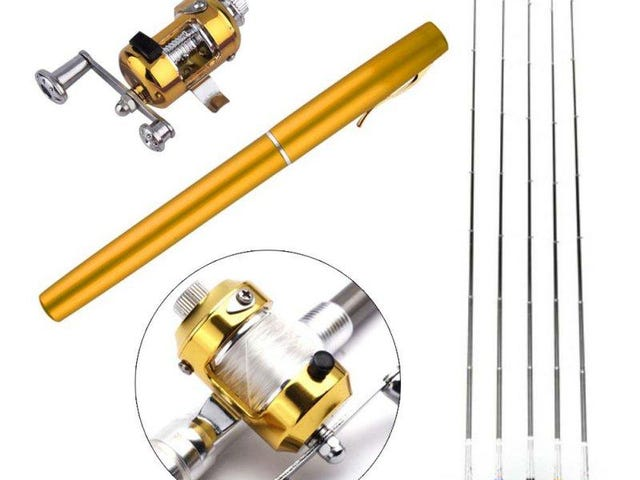 Portable Pocket Telescopic Mini Fishing Pole Pen Shape Folded Fishing Rod