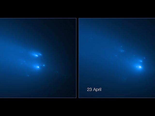 Hubble capture des images incroyables de la comète très attendue se désagrégeant