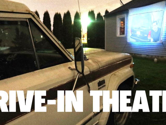 Sosyal Mesafede Arkadaşlarla Takılmak İçin 100 $ 'lık Drive-In Sineması Nasıl Yaptım