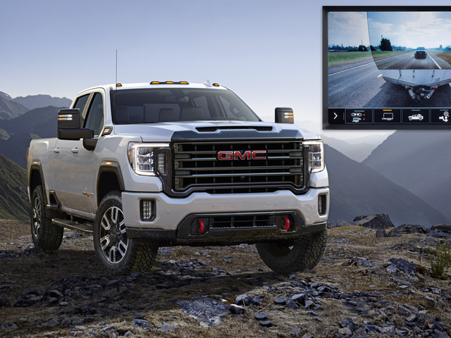 Le Sierra HD GMC 2020 vous permet de voir directement à travers la remorque que vous transportez