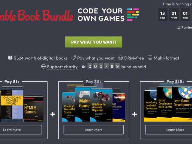Дізнайтеся, як розвивати власні ігри за допомогою нового пакету книжок Humble