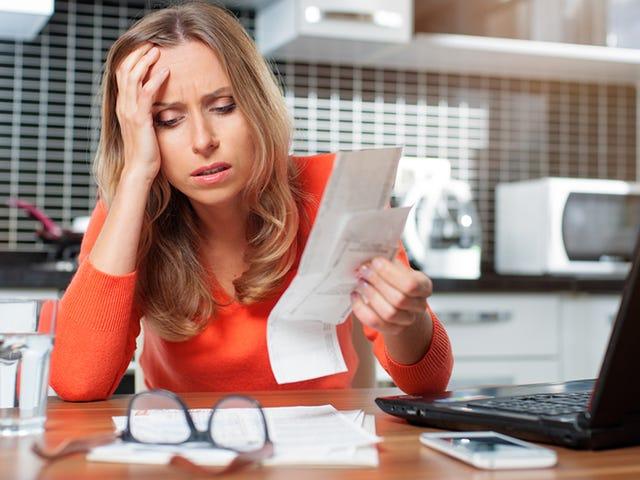 La preocupación por el dinero es difícil en las carteras y arrugas