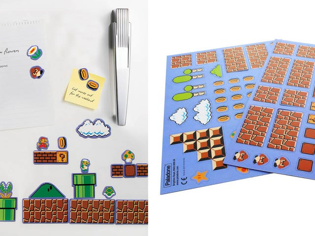 Mario Magnets Skift dit køleskab til <i>Mario Maker</i>