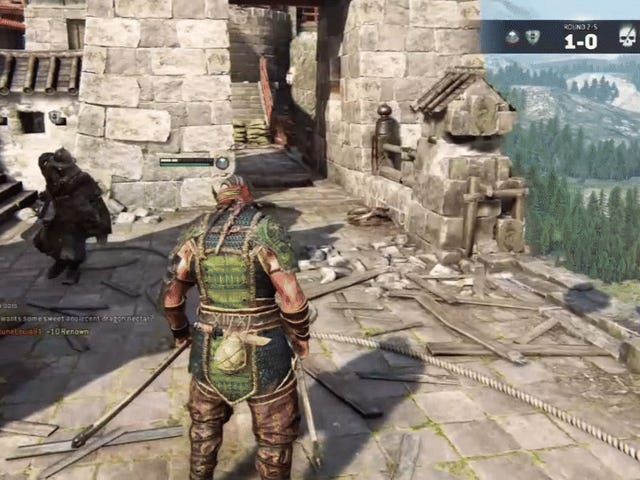 Exuberant Backflip Emote I <i>For Honor</i> kan brukes til å smette unna anfall