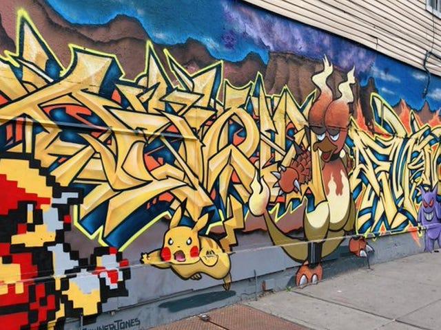Brooklyn'de hızlı bir karantina kırma yürüyüşü gördü: bu fantastik Pokémon duvar resmi