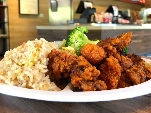 Panda Express's Sichuan Hot Chicken could stand to be a bit more Sichuan