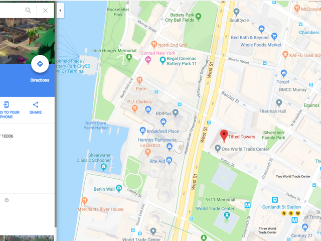 Fortnite's Tilted Towers Temporarily Had An Address On Google: The Freedom Tower