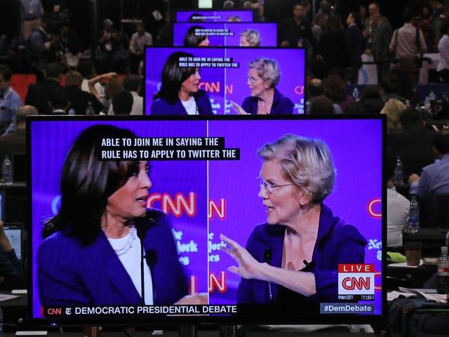Analyse efter debatten: Kamala Harris gjorde en god ting og Elizabeth Warren holdt det nede
