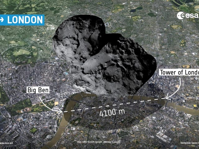 Images Show Size Of Philae's Comet By Dropping It On Europe's Cities