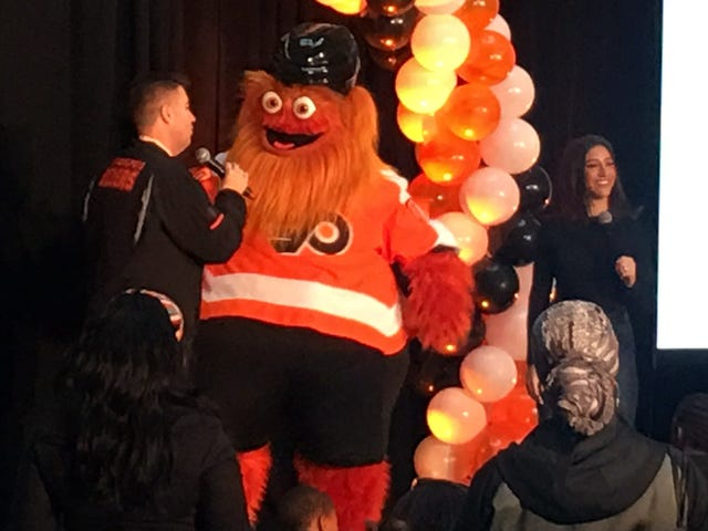 """Flyers Unveil Furry Orange Thing Named """"Gritty,"""" And I Love Him"""