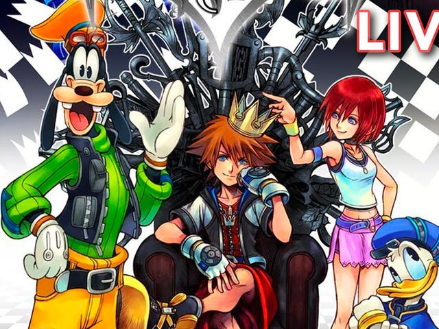 I'm still re-playing the first Kingdom Hearts. I'm real close to the end! Come yell at me while I yell at Donald for dying and Goofy for living.