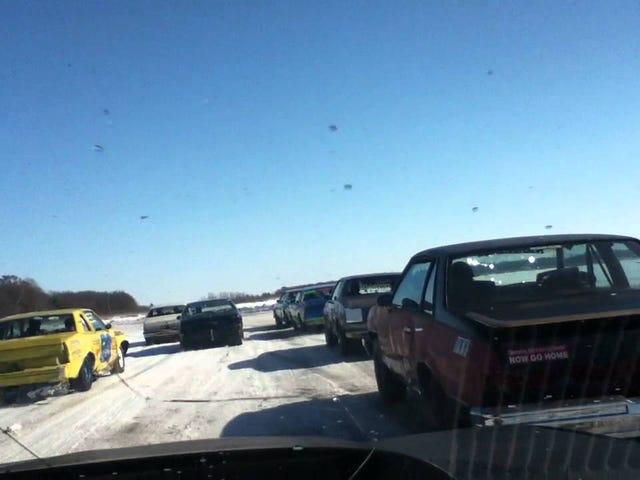Wisconsin Ice Racing, RWD vs FWD