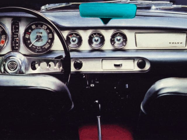 A Mostly Forgotten Automotive Detail: The Dash-Mounted Rear-View Mirror