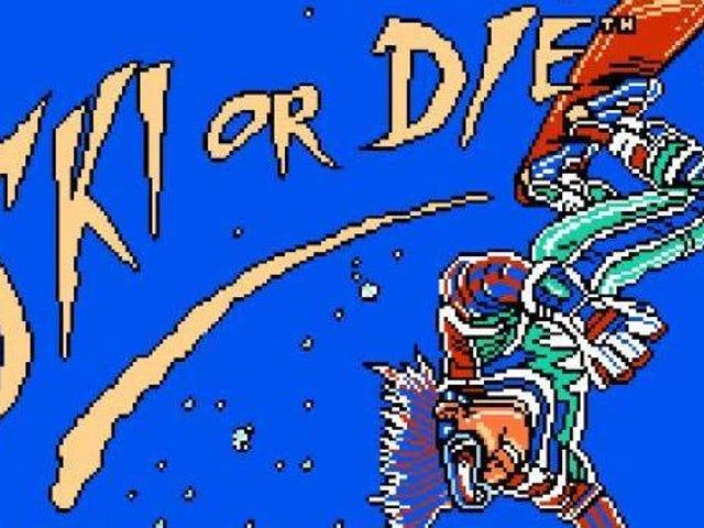 Retro NES kommt mit Ski oder Die auf die Piste! Wer braucht Übung oder ein Handbuch?