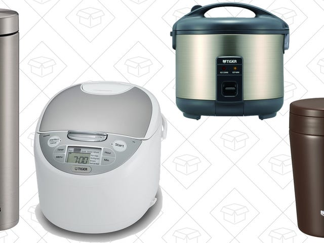 Save Big On Tiger Rice Cookers and Drinking Vessels, Today Only