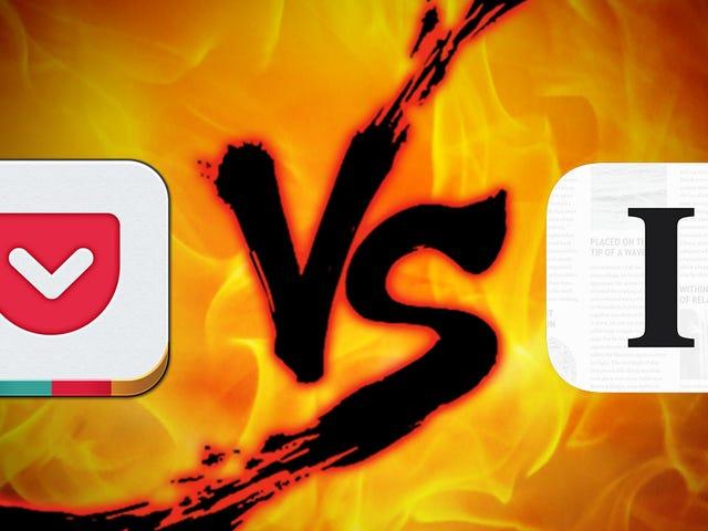 Daha Sonra Gösteri Açma: Cep vs. Instapaper