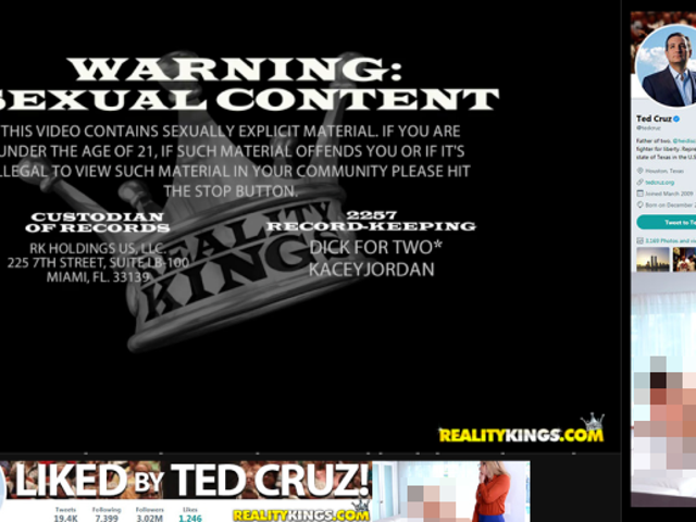 Pornhub Is Cashing in on Ted Cruz's Horny Twitter Gaffe