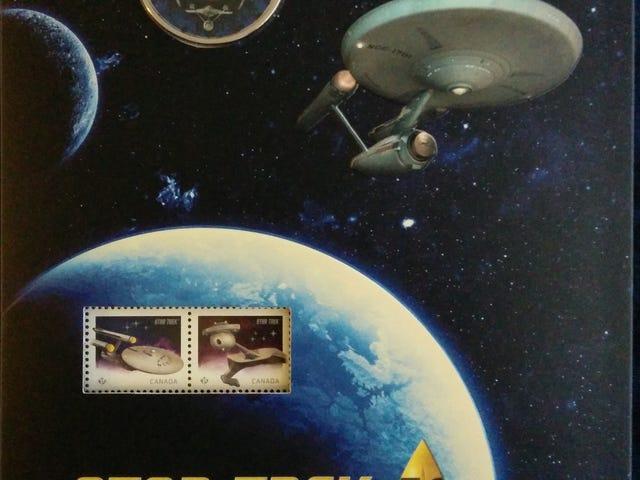 Fik min canadiske Star Trek Quarter og Stamp Set