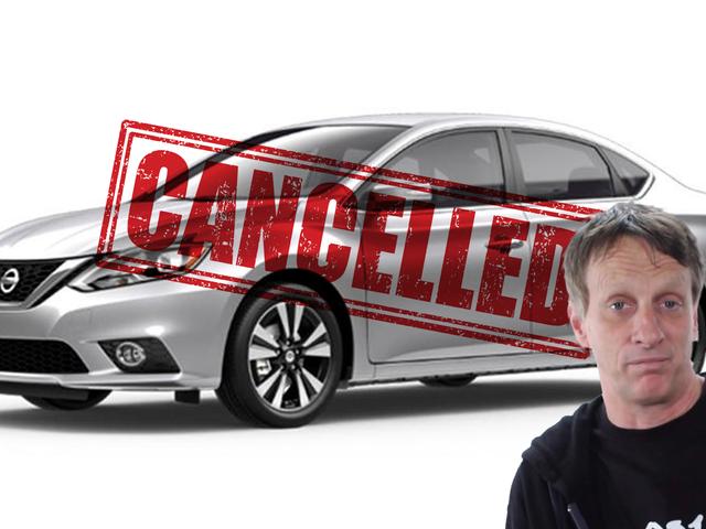Тони Хок официально слишком известен, чтобы арендовать автомобиль