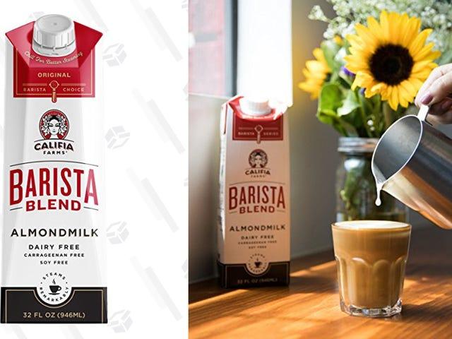 Κάνετε όλα τα μη γαλακτοκομικά σας Latte Dreams να είναι αληθινά με αυτό το 6-Pack Αμύγδαλο γάλα