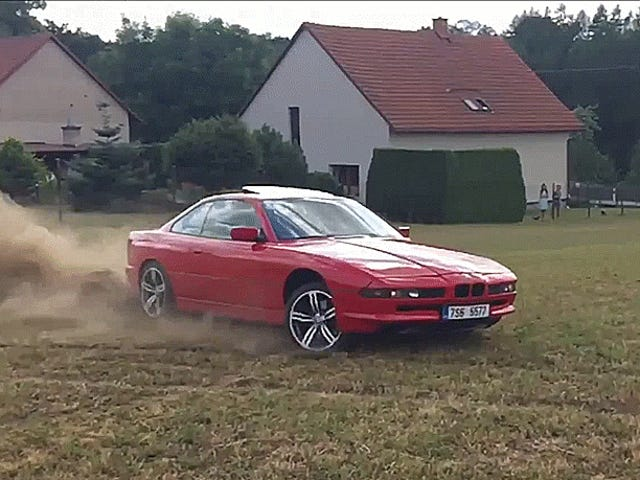The BMW 8 Series Was Made To Slide In The Dirt