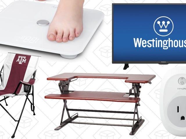 Лучшие предложения в Sunday's: Tailgating Gear, Standing Desk, Smart Scale и многое другое