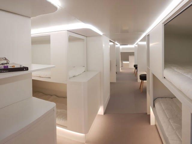 Airbus quire convertir la bodega de sus aviones en dormitorios con camas para vuelos largos