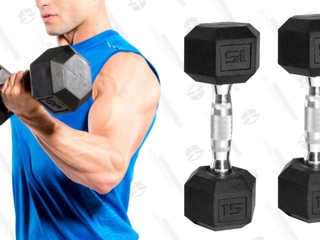 Sorry, Delivery Drivers - These Dumbbell Pairs Are On Sale In a Variety of Different Weights