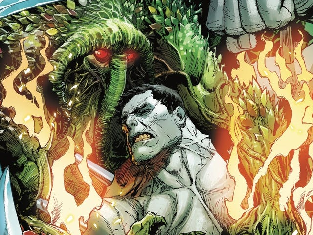 Weapon H faces off against the infernal Man-Thing in this exclusive preview