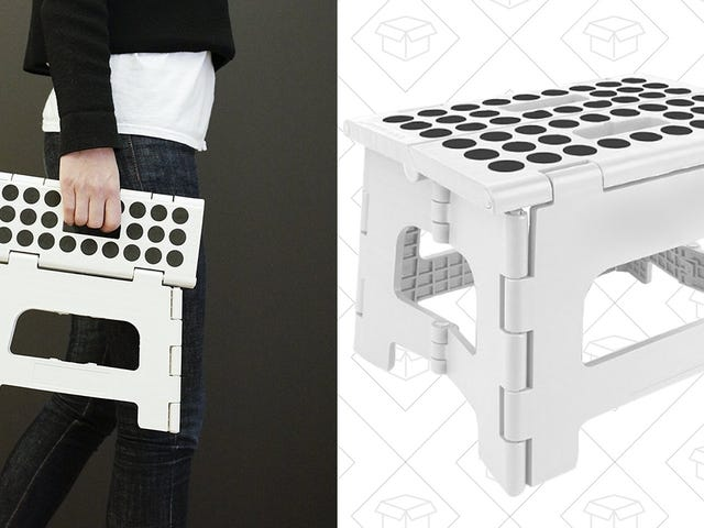 This $9 Folding Step Stool Belongs In Every Garage and Pantry