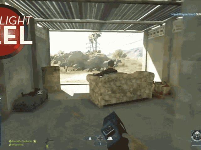 जब आप युद्ध के लिए जाते हैं, तो एक सोफे ड्राइव करना सुनिश्चित करें